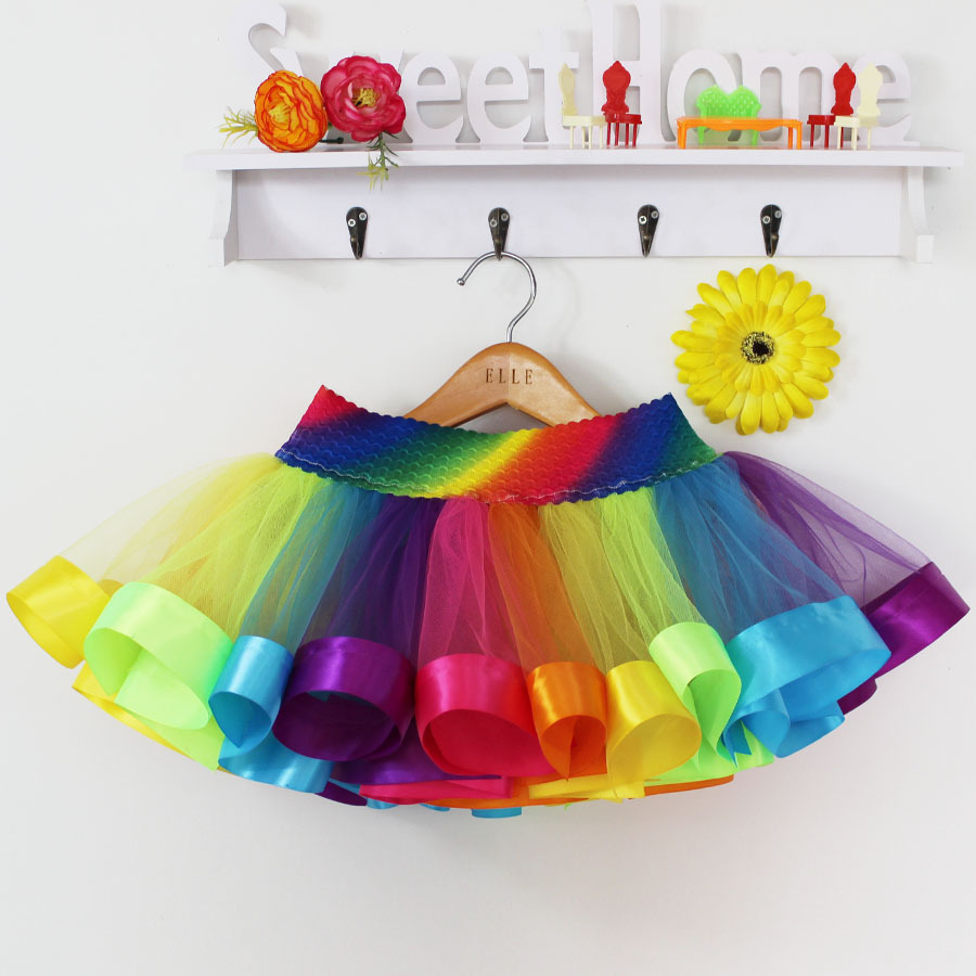 Summer-Style-Girl-Skirt-Baby-Kids-Children-Tutu-Skirt-Short-Rainbow-Skirt-1