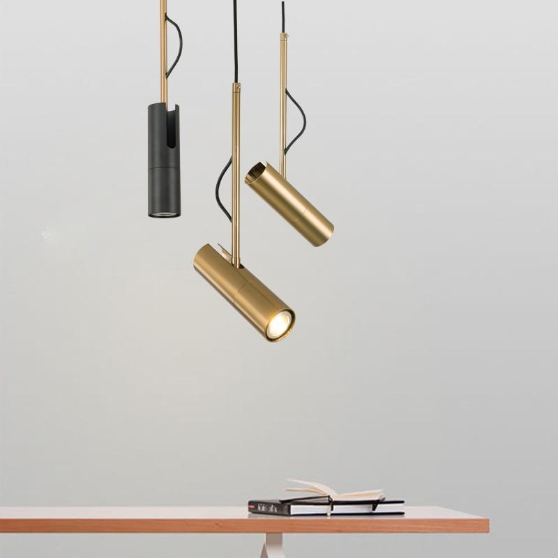 modern design pendant light LED Spot Light Fixture Nordic luminaire white/black bedside lamp hanging spotlight designer lighting|Pendant Lights| |  - title=