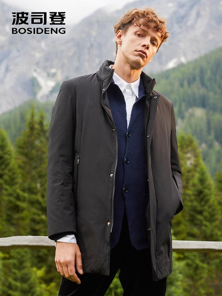 BOSIDENG Down Jacket For Men Business Men Casual Outwear Warm Mid-long Down Parka Waterproof B80131021