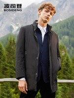BOSIDENG down jacket for men business men casual outwear warm mid long down parka waterproof B80131021