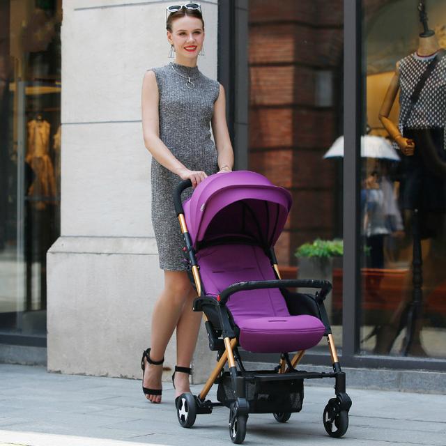 Elegante Peso Leve Carrinho De Bebê Portátil da liga de Alumínio À Prova de Choque de Carro Do Bebê Dobrável Carrinhos e Carrinhos para Recém-nascidos C01