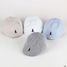 Lovely boy girl hats children caps beret stripe cap Infant c