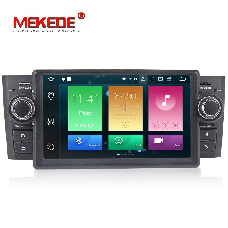 4G RAM voiture lecteur multimédia GPS Android 8.0 pour Fiat/Grande/Punto/Linea 2007-2012 Octa Core autoradio 1 Din Audio Auto TDA7851