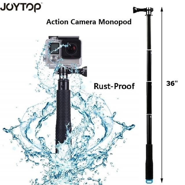 """פעולה מצלמה POV פולה 36 """"גלישה צלילה להארכה GoPro selfie מקל מוט חדרגל לgopro HERO 5 4 3 עבור SJCAM יי"""