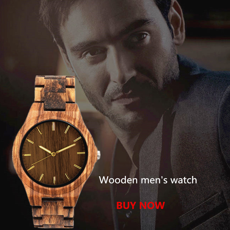 wooden watch male gents watches clok men relogio masculino luxury men brand FOR men's souvenir relogio watch(China)