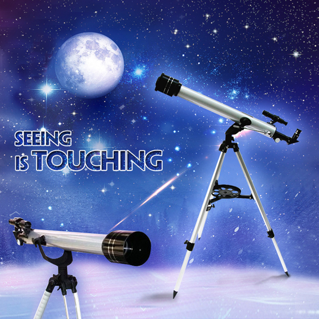 Outdoor Refractive Astronomical Telescope with Tripod 525X Zoom Monocular Space Astronomical Telescope F60700 Gift for Children