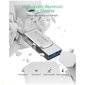 Image 4 - BlitzWolf BW UPC1 2 in 1 Type C USB 3.0 Aluminium Alloy 16GB 32GB 64GB OTG USB Flash Drive External Storage