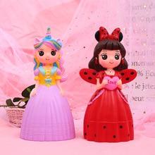 Home Decor Bedroom Cute Cartoon Princess Piggy Bank Unicorn Doll Coin Box for Money Safe Saving Bank Kid Baby Girl Birthday Gift