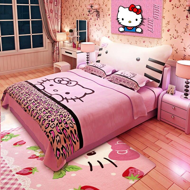 120cm X 190cm 5 größen optional hallo kitty rosa leder kinder weiche schlafen bett