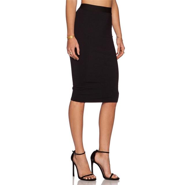 Aliexpress.com : Buy Women Pencil Skirt High Wiast Back Zipper ...