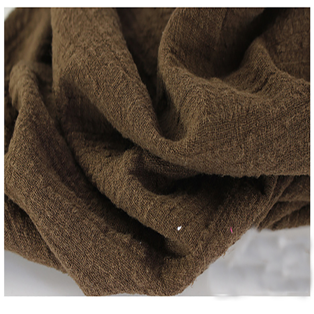 Weiche Leinen Baumwolle Material Kaffee Crincle Falten Tissue Schals