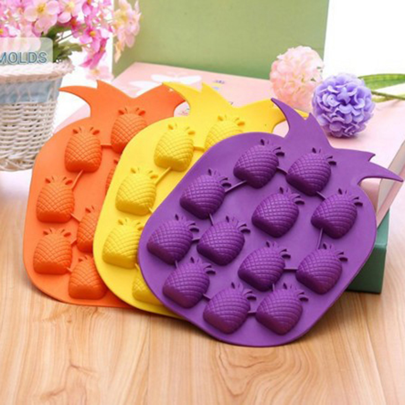 Pineapple Shaped Silicone Mold Ice Cube Mold Chocolate Jelly Baking Pan Muffin Candy Bakeware Mould DIY Tools Cake Decor