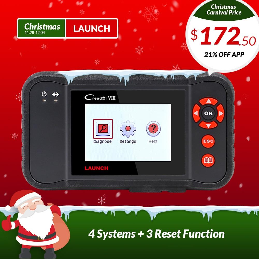 STARTEN X431 obd2 code reader Scanner Creader VIII 8 Auto diagnose Werkzeug für ENG/ABS/SRS/AT + öl/EPB/SAS reset pk CRP129 NT614