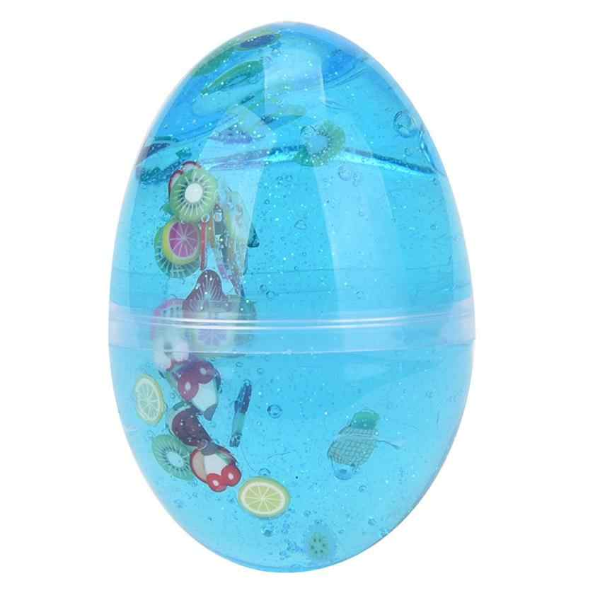 MUQGEW ANTISTRESS FUNNY  Tool Egg Colorful Soft Slime Toy Transparent Magic Soft Toys Plasticine For Children Antistress Game#LH