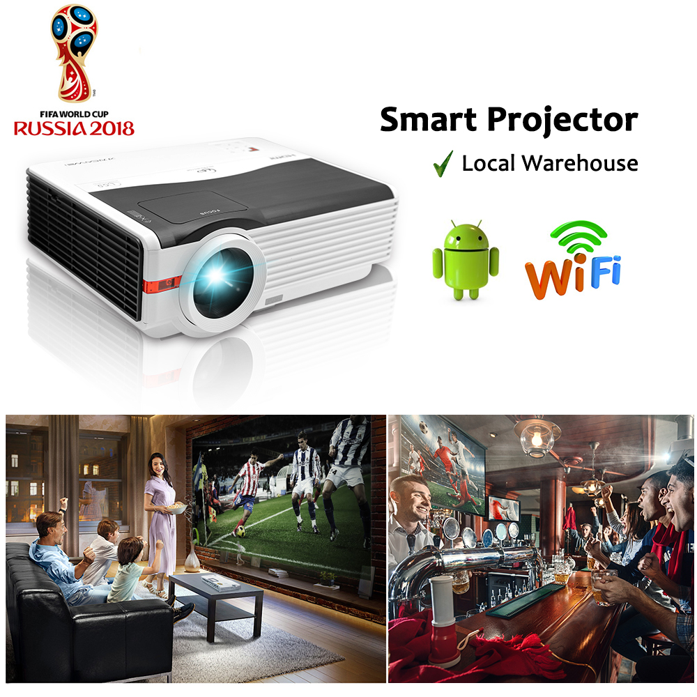 CAIWEI DVBT TV Full hd 1080p 5000lm WIFI LED Projector for Home Theater Cinema Movie Video Game Office HDMI VGA USB Free Bracket 300inch 5500ansi short throw movie home theater outdoor dlp 3d multimedia cinema film vga digital 1080p video projector beame