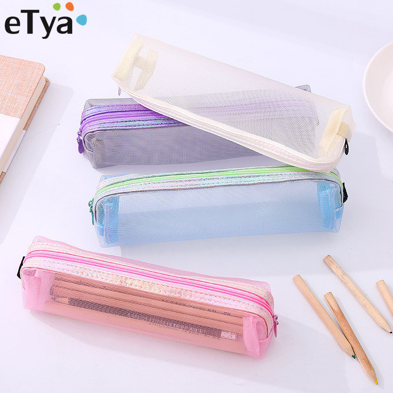 ETya Casual Women Travel Cosmetic Bag Make Up Brush Transparent Makeup Pouch Organizer Storage Pouch Lady Toiletry Beauty Bags