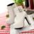 Couro Do Falso das mulheres Confortáveis Ankle Boots Plataforma Botas De Salto Alto para As Mulheres Da Moda Fivela Sapatos de Vestido de Inverno Preto Branco