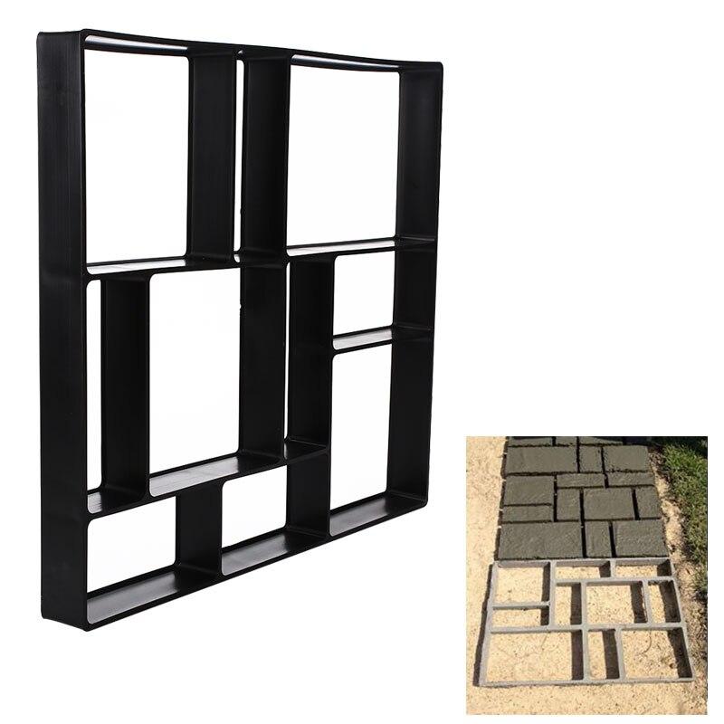 39.5*45*4cm Garden Stone Walk Maker Mould DIY Pavement Concrete Mold Driveway Paving Brick Patio Moldes Path Construction Tool