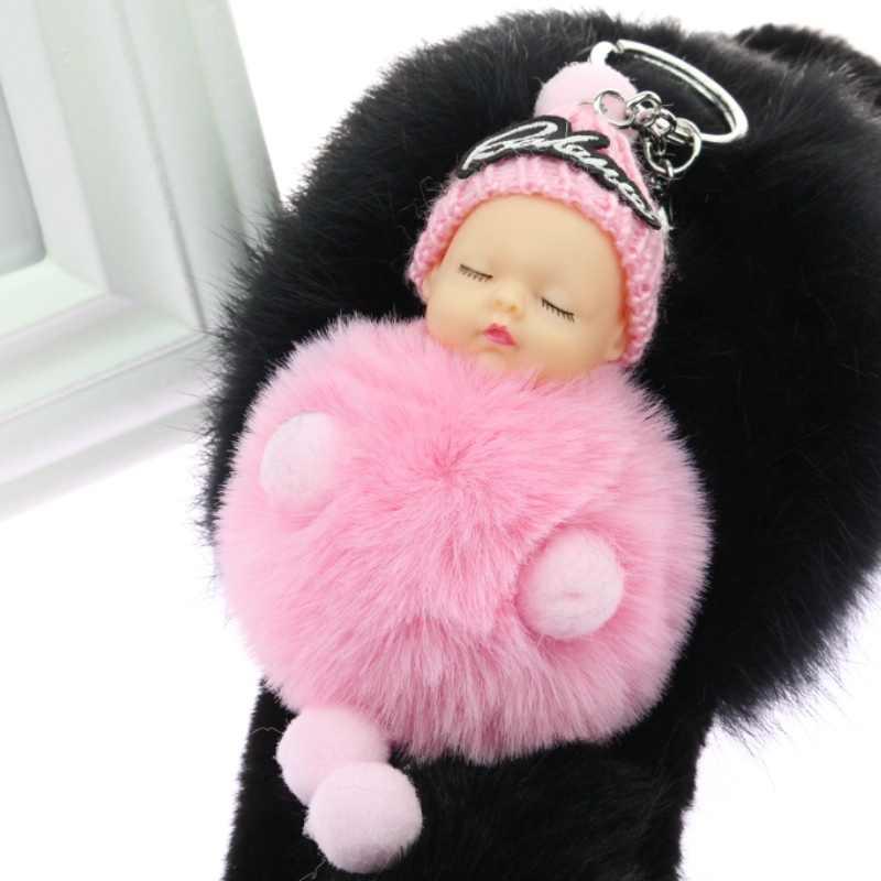 PINXIU 2019 новая Спящая Детская кукла шаровая брелок автомобильный брелок держатель сумка подвеска брелок-Шарм плюшевый мех новый милый женский ключ