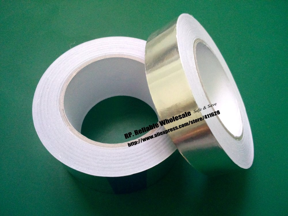 1x 20mm * 40 meters *0.06mm Adhesive Aluminum Foil Tape for BGA PCB Soldering Masking EMI Shielding 1x 60mm 40m 0 06mm single adhesive aluminum foil paper tape for heat transfer emi shielding bga soldering protecting