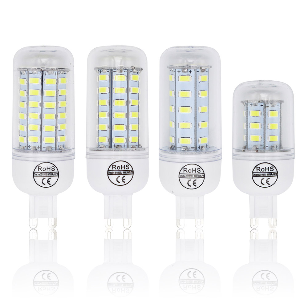 7W 12W 15W 20W Bombillas LED Bulb SMD 5730 Lamparas G9 LED Light 24 36 48 56 69 72 LEDs Lampada 220V Lamp Ampoule Candle Luz
