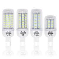 7W 12W 15W 20W LED Bombillas de bulbo SMD 5730 lamparas G9 LED Luz 24 36 48 56 69 72 LEDs Lampada 220V lámpara ampolla vela Luz