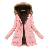 Womens Parka Casual Pregnant Woman Wear Autumn Winter Military Hooded Coat Winter Jacket Women Fur Coats Maternity Clothing