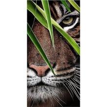 5D DIY diamond painting animal tiger full drill square round diamond embroidery cross stitch mosaic picture цена
