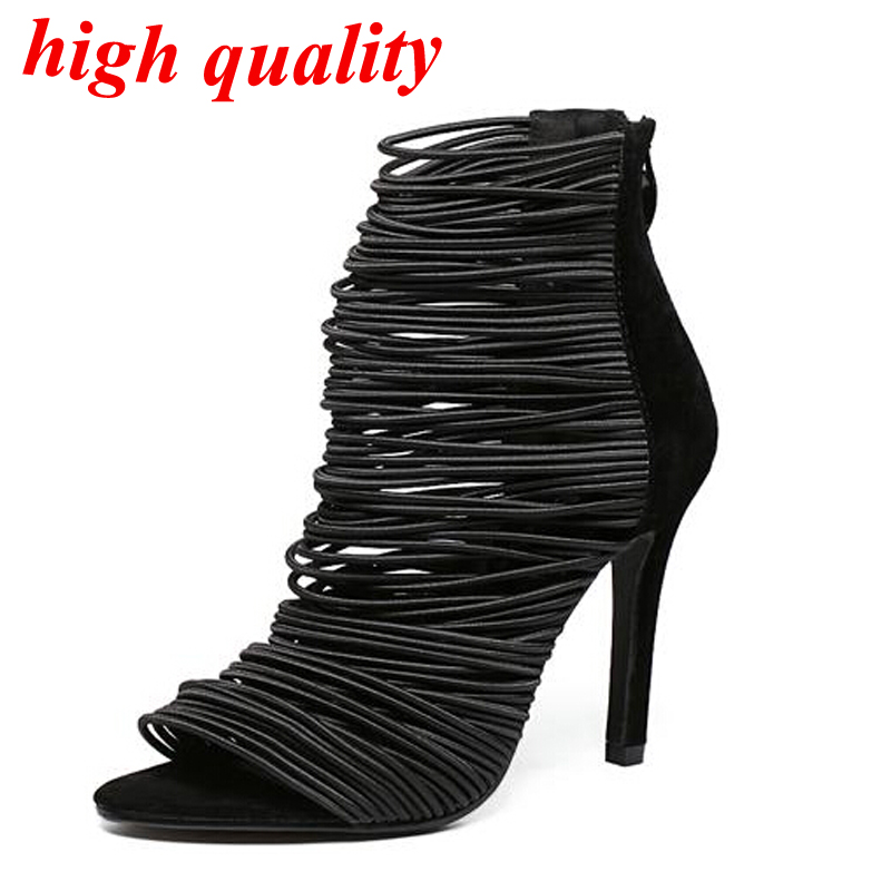 ladies sandals font b Women b font heels sexy pumps peep Toe high heel sandals Pumps