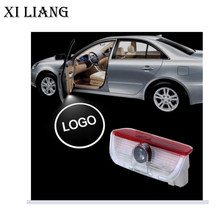2 pcs Wireless car door light LED Welcome Light Projector Laser Logo Ghost 3D Shadow for VW free shippping(China)