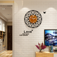New Creative Acrylic 3D Geometric Round Wall Clocks With Wall Stickers Slient Quartz Circle Wall Clock Modern Design Living Room creative geometric flower black wall clock modern design with wall stickers 3d quartz hanging clocks free shipping home decor