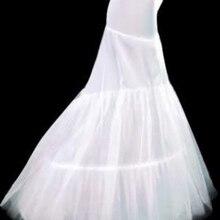 Свадебная Нижняя юбка 2 Обручи Белый Русалка кринолин скольжения дешевые и хорошее качество аксессуары