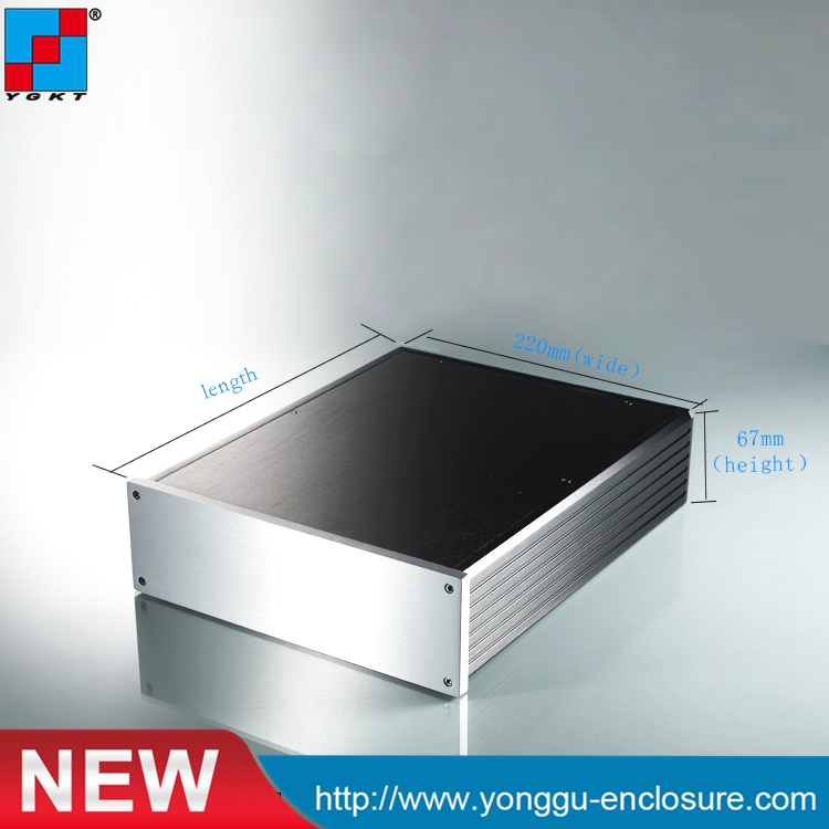 220*67-280mm(WxH-D) extruded aluminum electronic Made in China Aluminum Housing electronics design