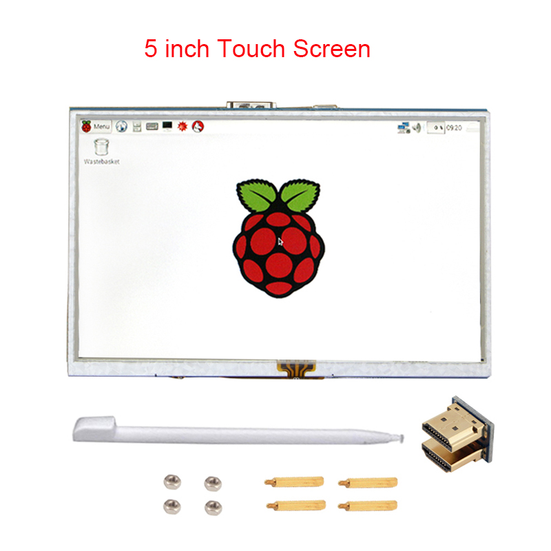 Raspberry Pi 3 Model B 5 inch LCD Touchscreen TFT HDMI 800x480 RPI Display Module Touch Screen Compatible Raspberry Pi 3 +Stylus waveshare raspberry pi 3 5 inch tft lcd resistive touch screen display module for any revision of raspberry pi 3 b 2 b b a