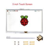 Raspberry Pi 3 Model B 5 inch LCD Touchscreen TFT HDMI 800x480 RPI Display Module Touch Screen Compatible Raspberry Pi 3 +Stylus