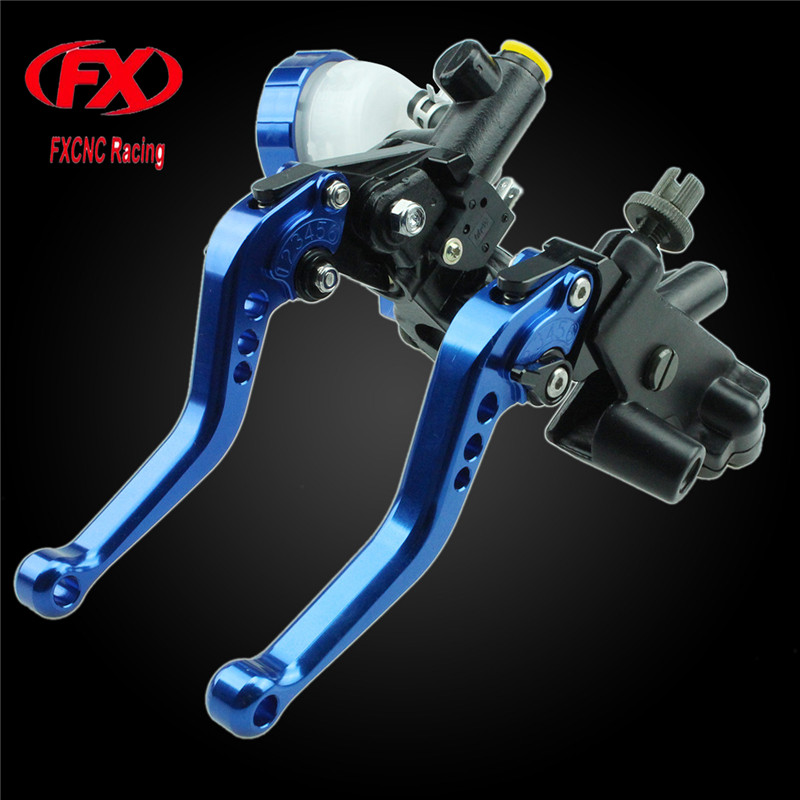 цена на FXCNC 125-600cc Motorcycle Brake Clutch Levers Master Cylinder Hydraulic Brake Cable Clutch For Yamaha MT-25 2015 - 2016