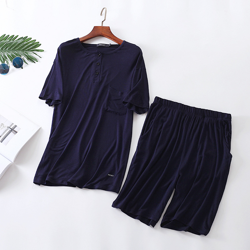 Radient 2019 Summer Brand Homewear Mens Casual Pajama Sets O-neck Shirt & Half Pants Male 100% Cotton Sleepwear Suit Men Home Clothes Men's Sleep & Lounge