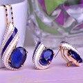 Blucome dubai sistemas de la joyería de regalo de san valentín pingente esmalte collar de hilo fino max brincos bijoux rhinestone ajustes del diente