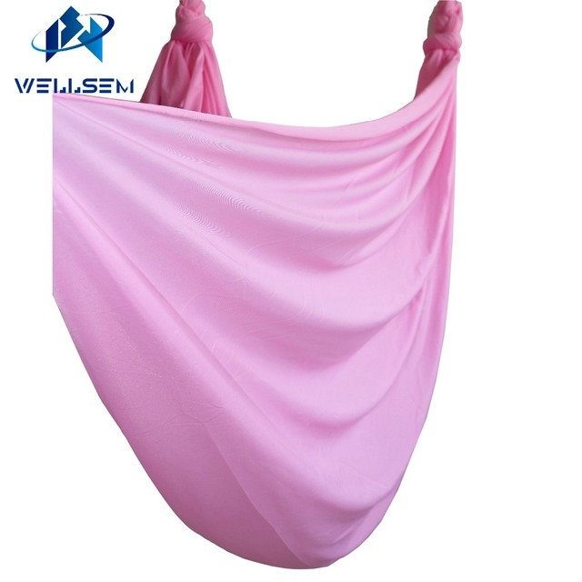cherry pink 5meter length flying swing yoga anti gravity yoga hammock fabric aerial traction device cherry pink 5meter length flying swing yoga anti gravity yoga      rh   aliexpress