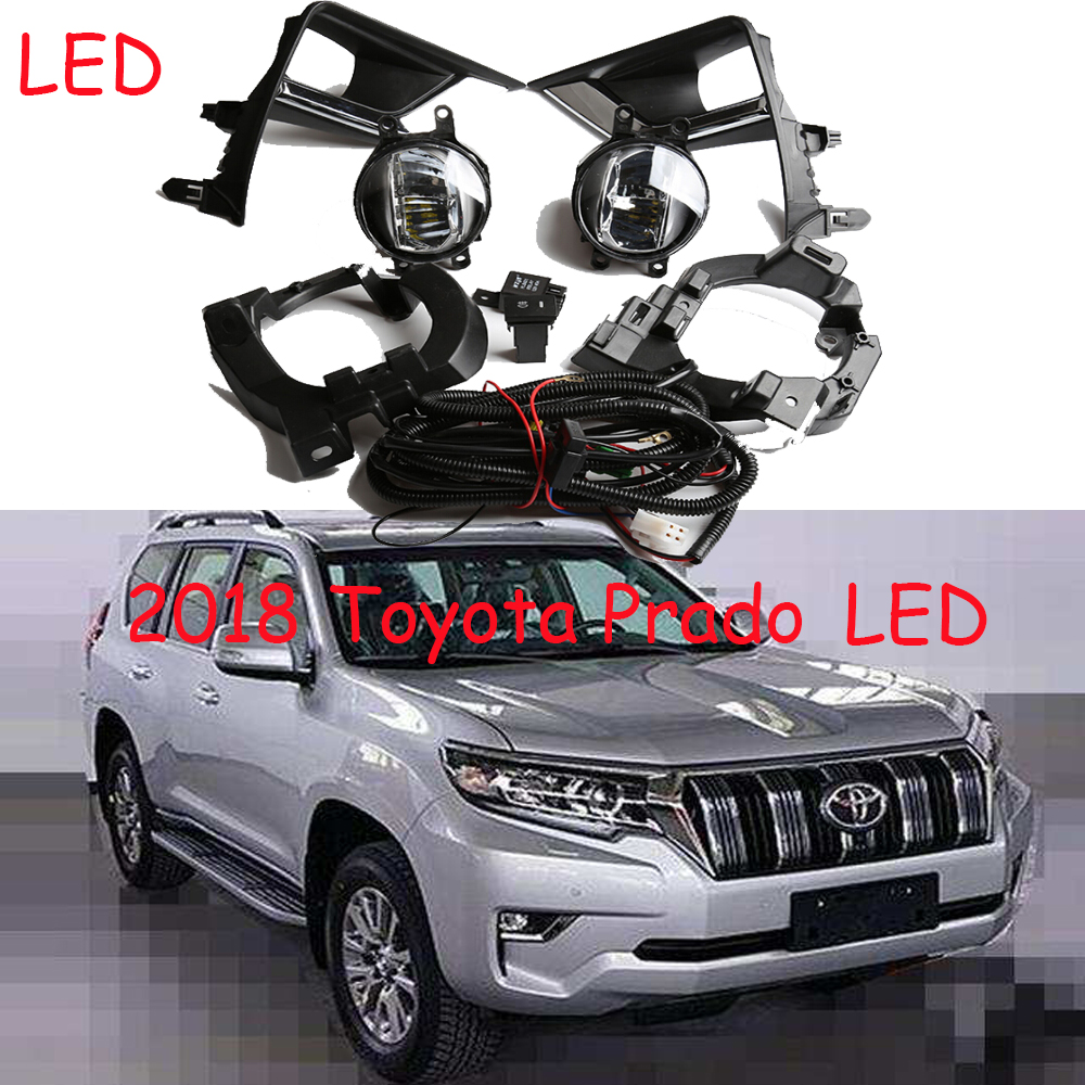 цена на Prado fog light,LED,2018year,prado halogen light,Free ship! Prado headlight; cruiser fog lamp