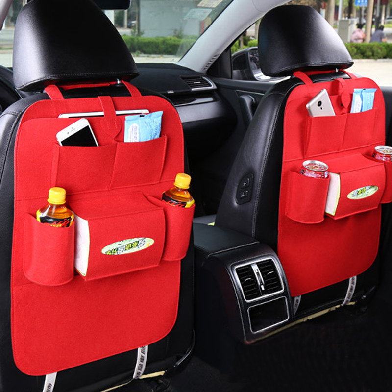Car Seat Organizer Insulated Food Storage Container Stowing Tidying Bags Hanger Multi Pocket Hanging Travel Bag Car Styling