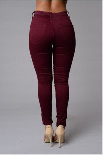 Sexy Women Slim Jeans Denim Skinny Basic Pants High Waist Stretch Jeans Pencil Trousers