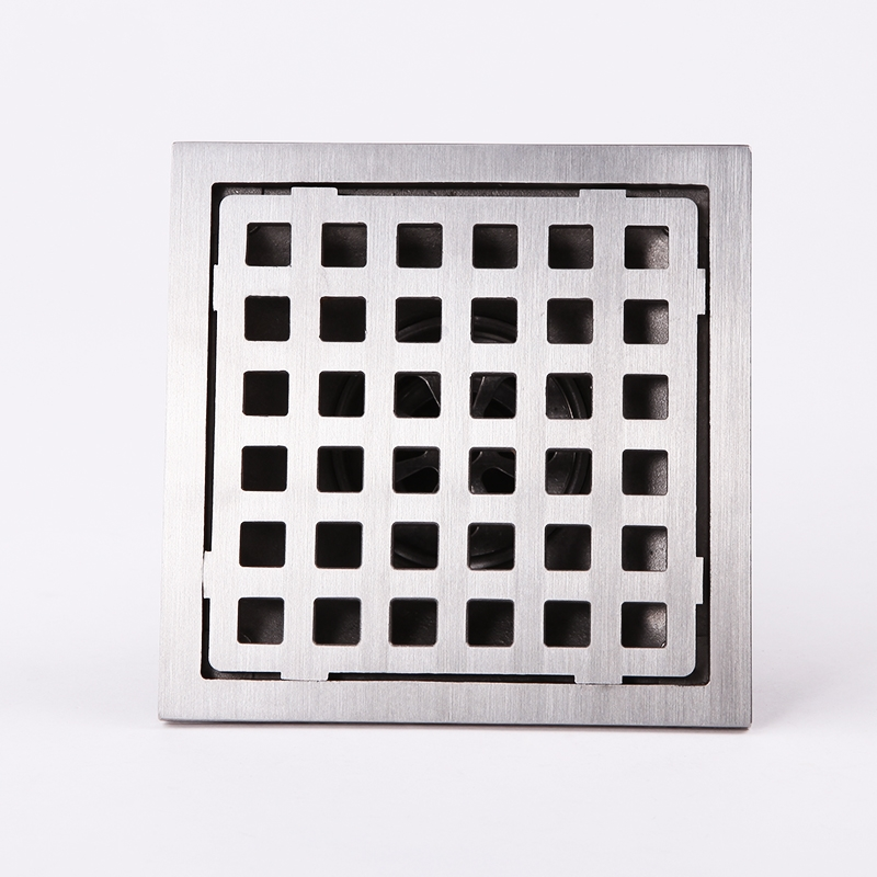 ФОТО 304 solid stainless steel 100 x 110mm square anti-odor floor drain bathroom  shower floor drain-8A