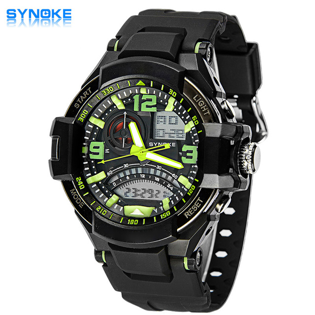 2017 SYNOKE Brand Men Sports Watches Digital Led Sport Wristwatches 50m Water Resistant Relogio Masculino For Mens Quartz Watch