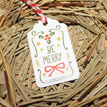 50Pcs Paper Tags With String DIY Craft Party Supplies Favor New Year Christmas Decoration Hanging Ornaments Home Decor Navidad
