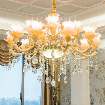Gold Chandelier Suspension Metal Hanging Crystal Lighting Living Room Stair Lighting Modern Staircase Chandelier Crystal Lamp