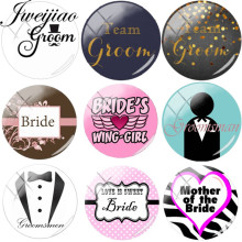 jweijiao personalized letter groom bride bridesmaid groomsmen picture glass cabochon dome charms wedding diy gift