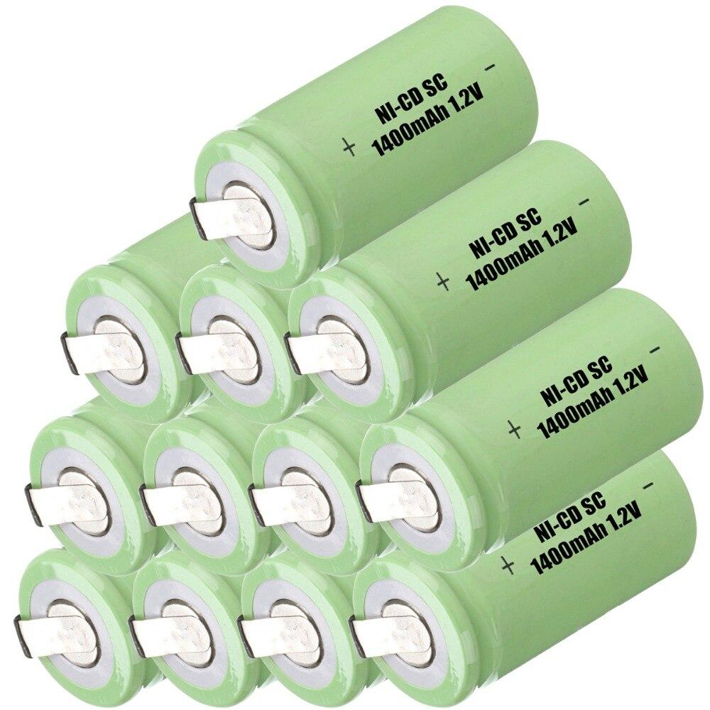 Capacidad verdadera! 12 unids SC batería subc batería recargable banco de la ene