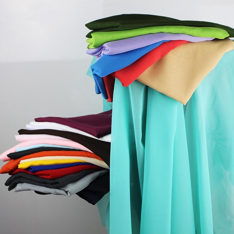 Шифон мата Мөлдір жубайлар үйлену көйлек жүн мата юбка Party Decorator 60 «Wide 5 Yards / lot 150x460cm