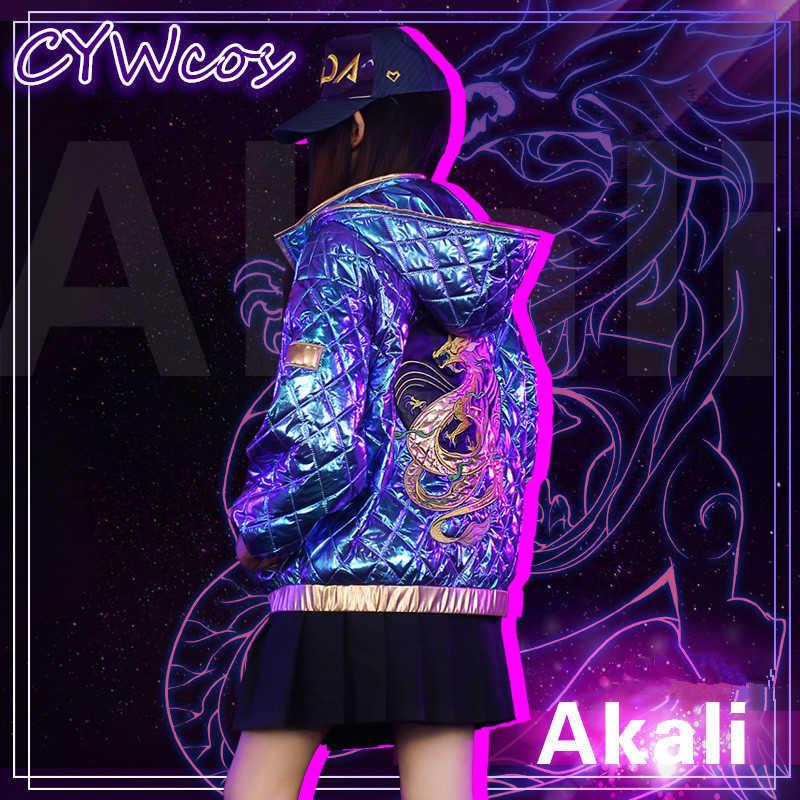 Hot Kda Akali Girls Group Lol K Da Cp Daily Suits Cosplay Costume Akali Coat Hot Pop Star Jacket Aliexpress